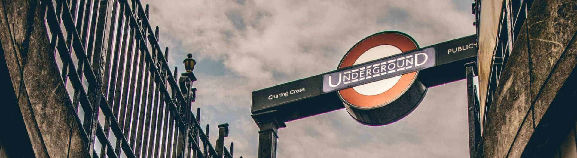 London Underground oval sign at Charring cross