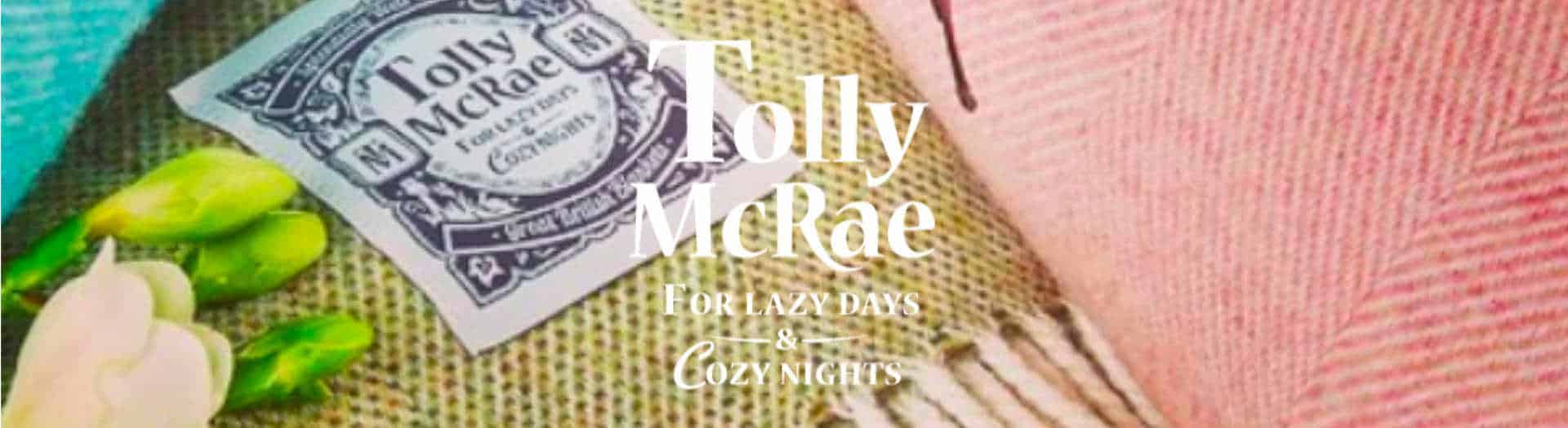 Handcrafted Tolly McRae Wool Picnic Blanket Logo Header