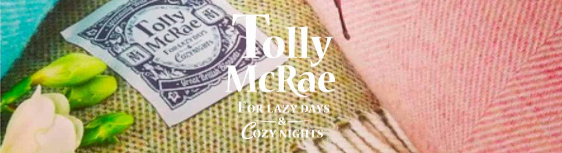 Tolly McRae Wool Picnic Blanket Logo Header