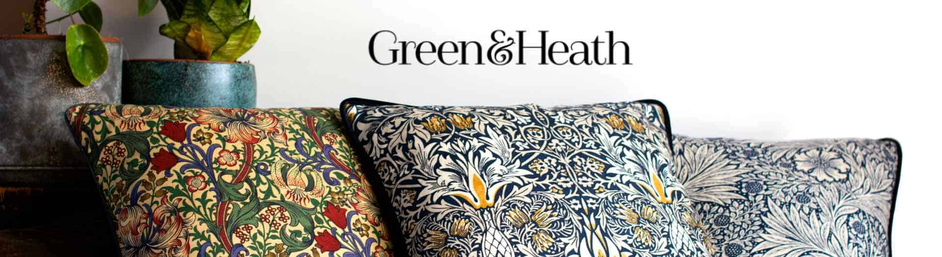 green and heath ethical homewares with william morris fabric