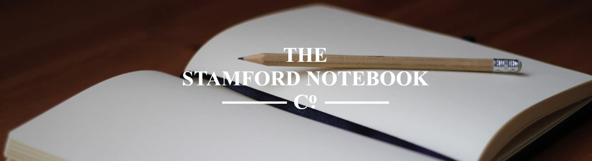 Handmade Stamford notebooks with logo and luxury notebook with pencil