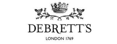 black and white debrett's logo