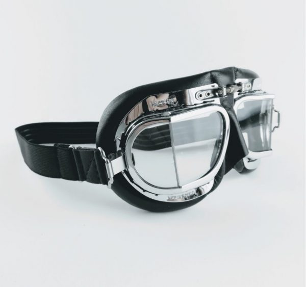 Halcyon MK49 Classic Goggles chrome and black