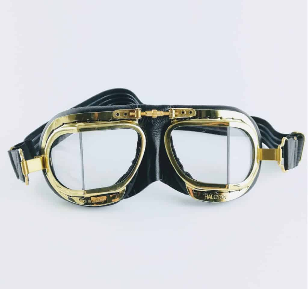 mk49 compact goggles front - British made luxury handcrafted unique gifts for him