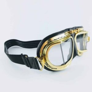 Halcyon goggles mk49 compact goggles antique bras and leather goggles, vintage driving goggles
