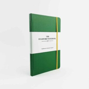 stamford Vibrant Buckram Emerald Notebook with yellow strap