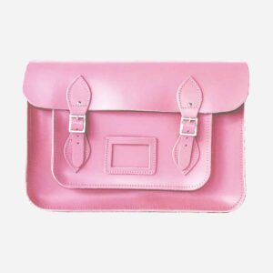 Candy Floss Pink Leather Satchel