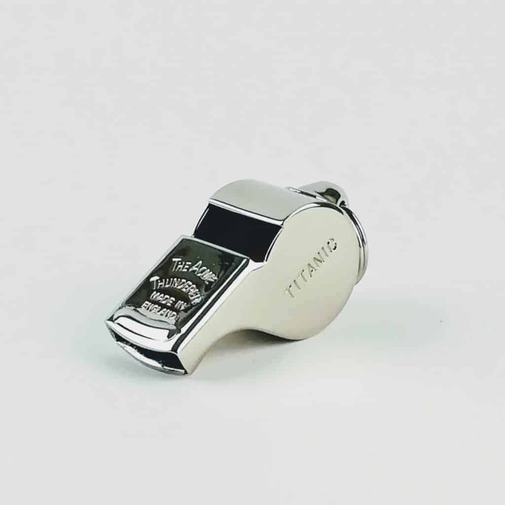 acme whistles nickel plated titanic whistle, titanic silver whistle, thunderer whistle, iconic whistle from ACME whistles