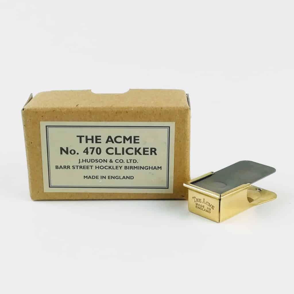 acme polished brass clicker box