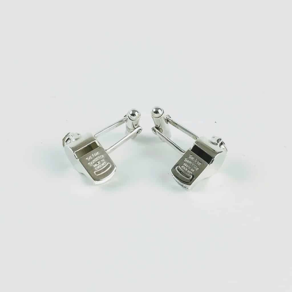 acme thunderer whistle cufflinks sterling silver 1 - British made luxury handcrafted unique gifts for him