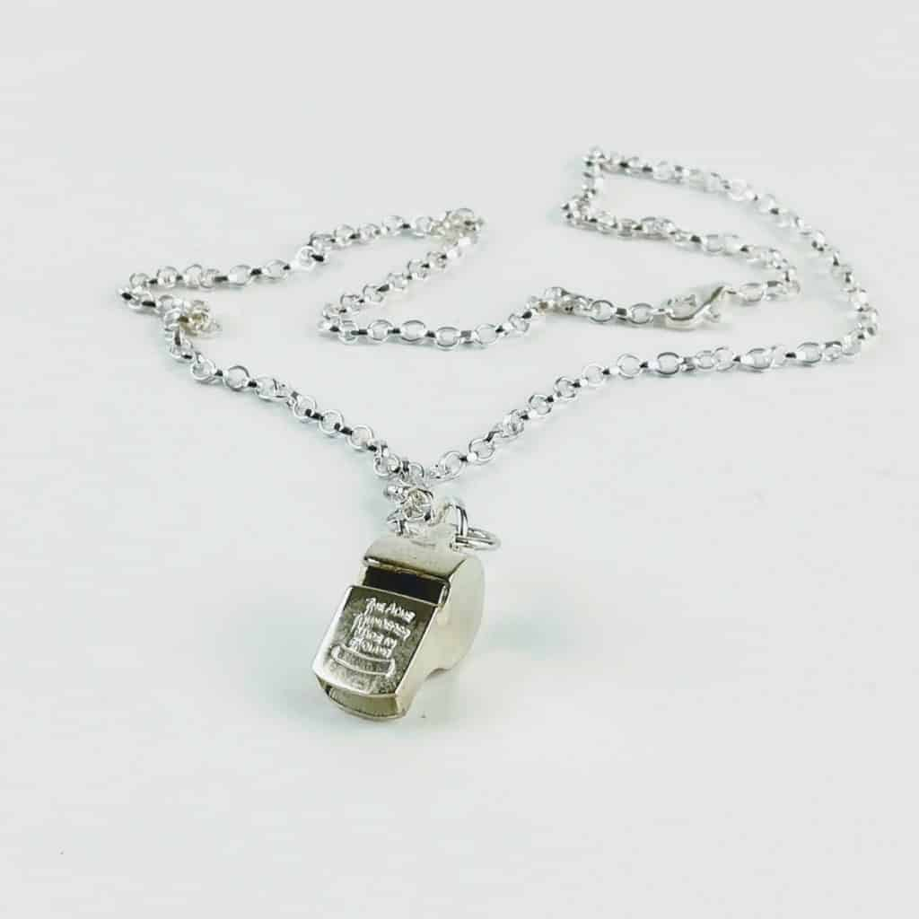 acme thunderer whistle necklace sterling silver 1 - British made luxury handcrafted unique gifts for her