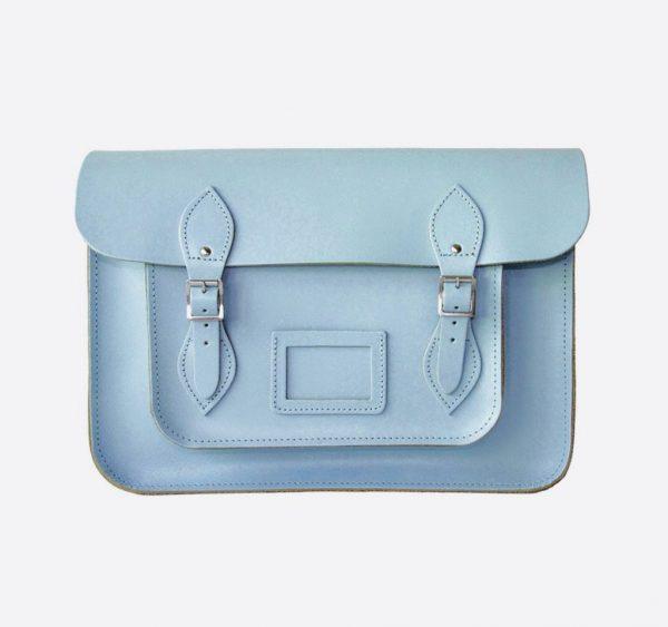 Original satchel store Aegean Blue Leather Satchel