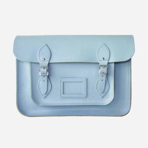 Aegean Blue Leather Satchel