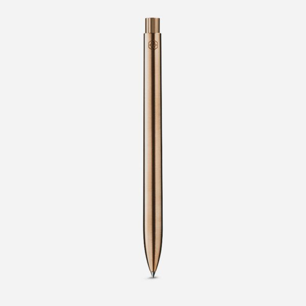 Ajoto Aluminium 18ct Rose Gold Pen front