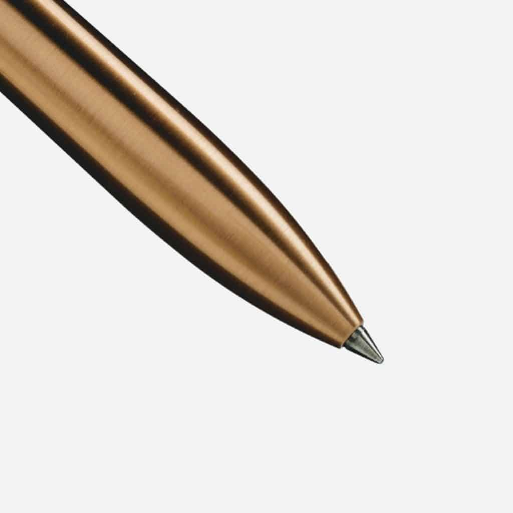 ajoto aluminium 18ct rose gold pen nib - British made luxury handcrafted unique gifts for her
