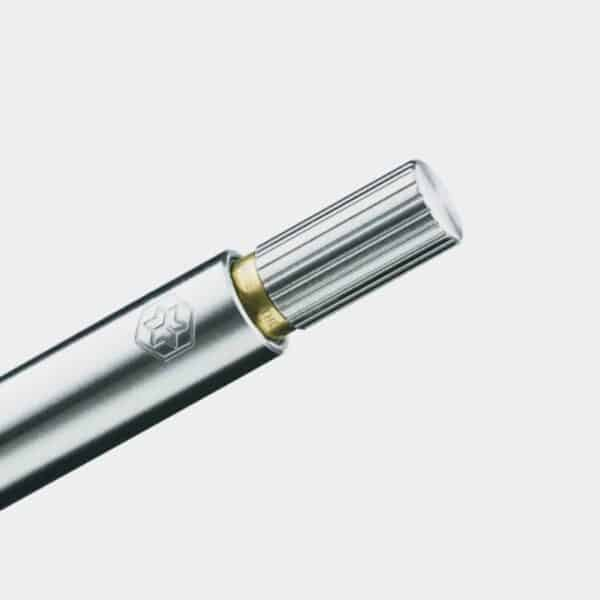 Raw Brushed Stainless Steel Pen