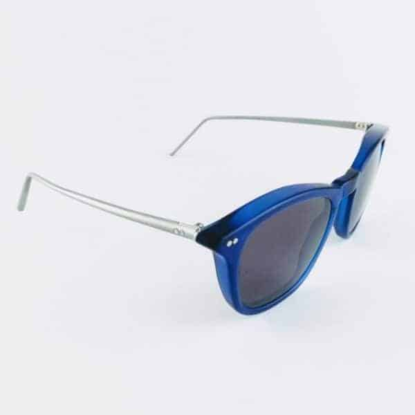 banton frameworks handcrafted Blue Sunglasses on white background