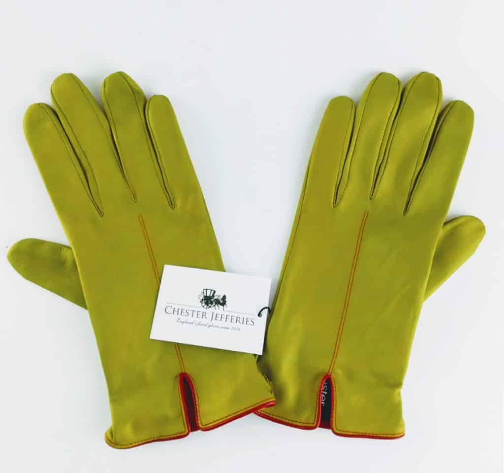 chester jeffries the kingsman men s gloves fennel and cape red leather 2 - British made luxury handcrafted unique gifts for him