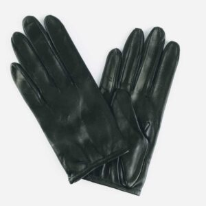 chester jeffries the prom black leather gloves, short cut leather ladies gloves