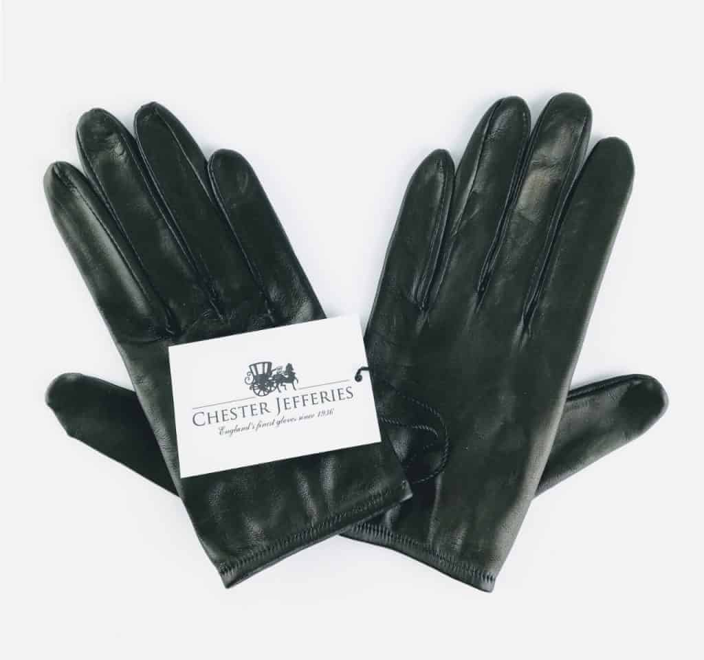 chester jeffries the prom black leather gloves 3 - British made luxury handcrafted unique gifts for her