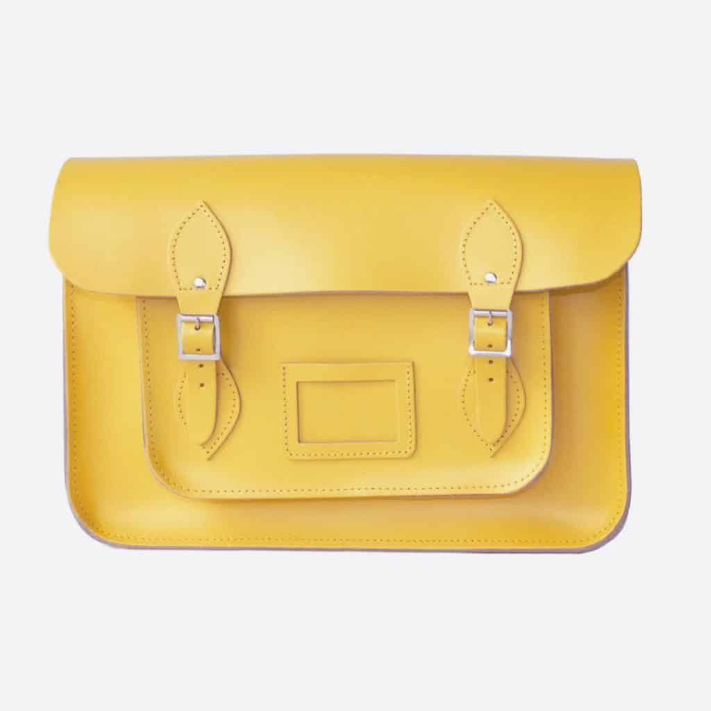citrus yellow leather satchel front - Christmas Gifts for Her