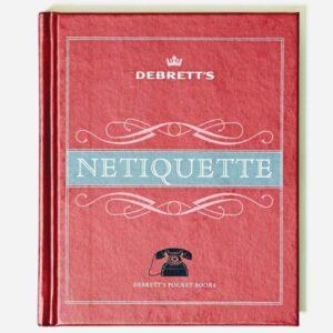 debrett's netiquette, book on internet dos and don't, online ettiquette, fun book on etiquette