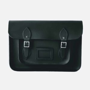 Original satchel store Ebony Black Leather Satchel