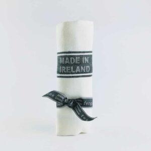 Thomas ferguson 100% irish linen tea towel green striped tea towel, linen towel made in Britain