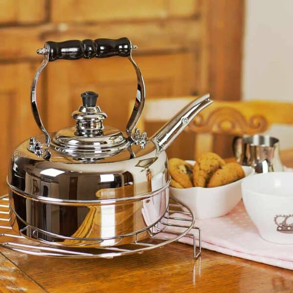 Heritage No2 Chrome Whistling Kettle