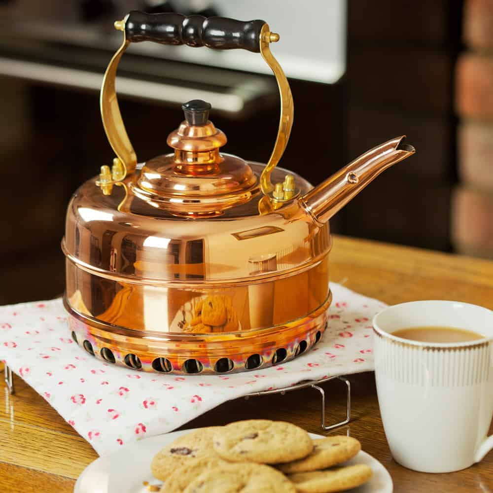 heritage no3 whistling copper kettle lifestyle - British made luxury handcrafted unique gifts for her
