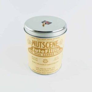 nutscene iconic tin of natural nutscene twine, jute twine in a meatl tin for easy spooling jute twine natural