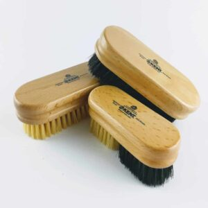 set of three wooden kent shoe brushes