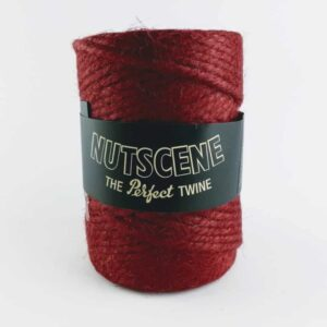 nutscene chunky red twine, red thick garden twine, crafters garden twine red