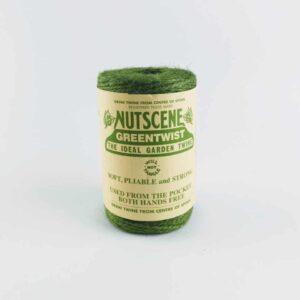 nutscene heritage green twine, garden twine, green floristy twine, 3mm jute string twine