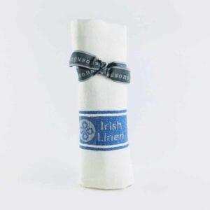 thomas ferguson blue 100% irish linen tea towel quick dryer royal blue tea towel, made in britain towel
