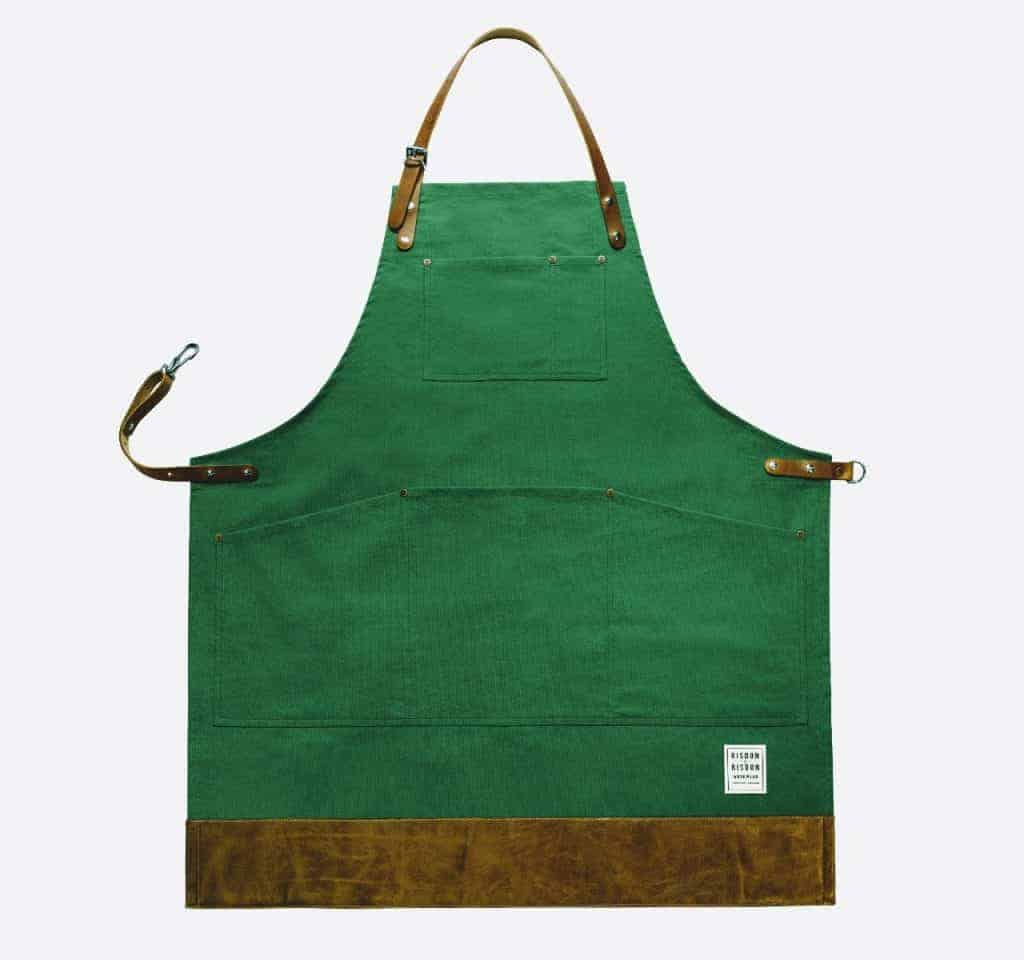 risdon and risdon shropshire green apron - British made luxury handcrafted unique gifts for her