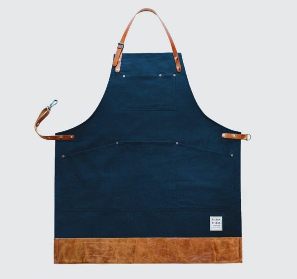 Risdon and risdon British navy canvas apron with leather trim