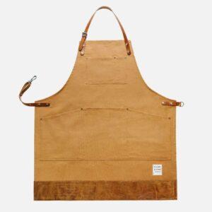 risdon risdon trade brown apron, heavy canvas brown apron with leather bottom durable apron risdon and risdon