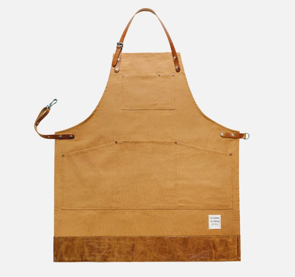 risdon risdon trade brown apron - British made luxury handcrafted unique gifts for him