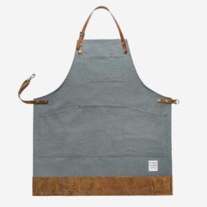 risdon risdon heritage grey apron, durable canvas grey handmade apron risdon and risdon aprons