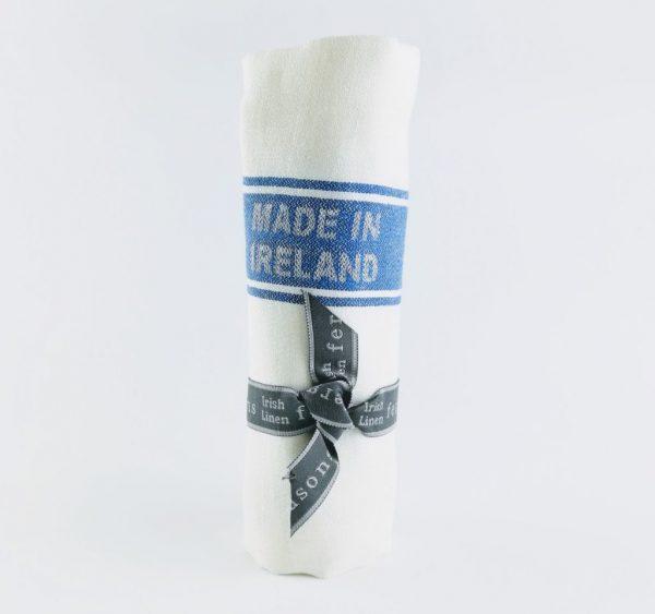 Thomas Ferguson Royal Blue Striped Tea Towel