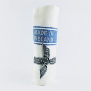 thomas ferguson irish linen tea towel linen royal blue striped tea towel