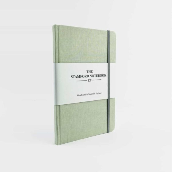 stamford Pistachio Woven Cloth Notebook