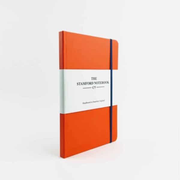 stamford notebook Vibrant Buckram Tangerine Notebook