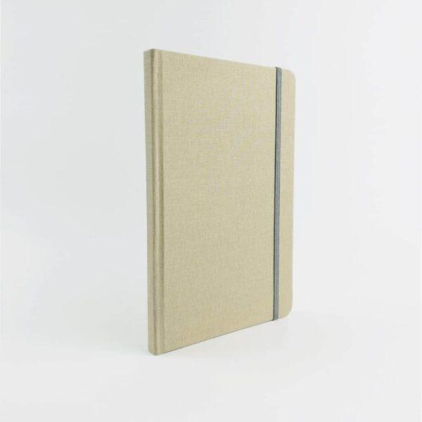 Beige Woven Cloth Notebook