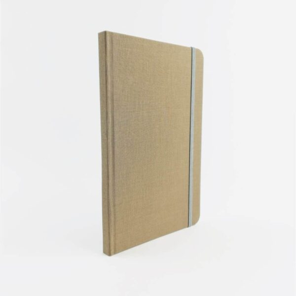 Fawn Woven Cloth Notebook