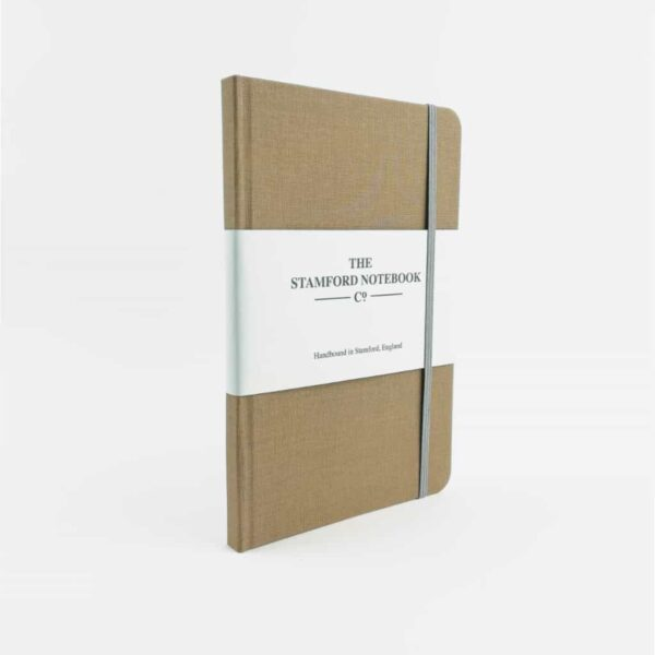 stamford fawn woven cotton notebook