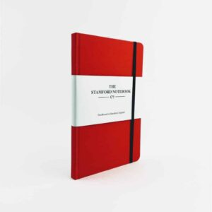 stamford notebooks red woven cloth notebook front