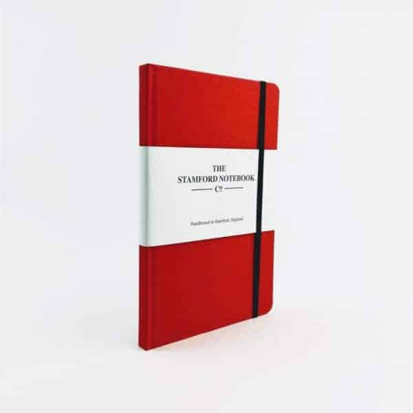 stamfrod Red Woven Cloth Notebook