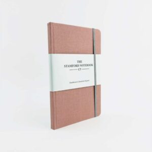 Rose Pink Woven Cloth Notebook